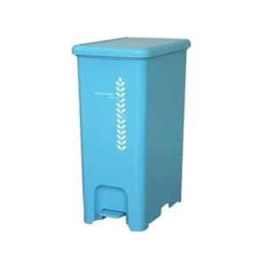 平和工業 ペダルペール (ゴミ箱・ごみ箱) 40L SBL(スモーキーブルー)