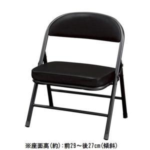 弘益 折畳椅子(折り畳みイス) PFC-43(BK)の商品画像