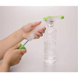 富士商 ペットボトル専用 加圧式スプレーノズル クリアグリーン ポンプ式 ペットボトル専用