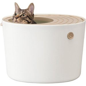 アイリスオーヤマ 上から猫トイレ 【プチサイズ】 ホワイト PUNT-430|yamakishi