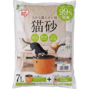 アイリスオーヤマ 上から猫トイレ用 猫砂 7L UNS-7L|yamakishi
