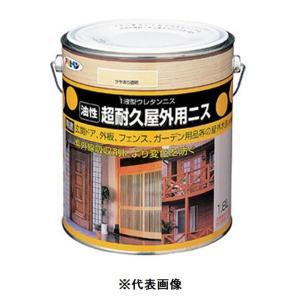 アサヒペン 油性超耐久屋外用ニス 透明(クリヤ) 0.7L yamakishi