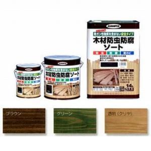 アサヒペン 木材防虫防腐ソート(ブラウン) 【1.0L(1000ml)】 yamakishi