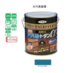 アサヒペン 油性高耐久アクリルトタン用α  オーシャンブルー 1.6kg|yamakishi