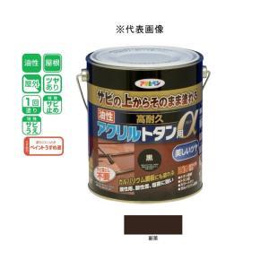 アサヒペン 油性高耐久アクリルトタン用α  新茶 1.6kg|yamakishi
