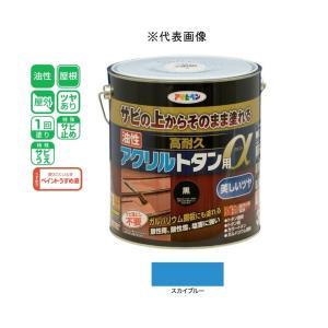 アサヒペン 油性高耐久アクリルトタン用α  スカイブルー 3kg|yamakishi