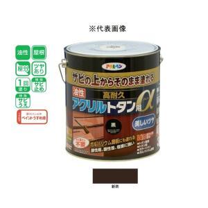 アサヒペン 油性高耐久アクリルトタン用α  新茶 3kg|yamakishi