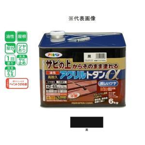 アサヒペン 油性高耐久アクリルトタン用α   黒 6kg|yamakishi