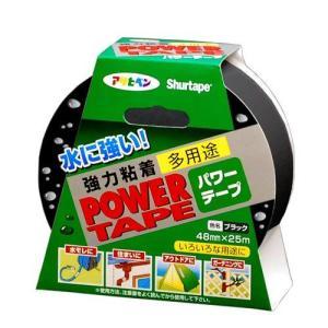 アサヒペン DUCKパワーテープ ブラック 48mm×25m|yamakishi