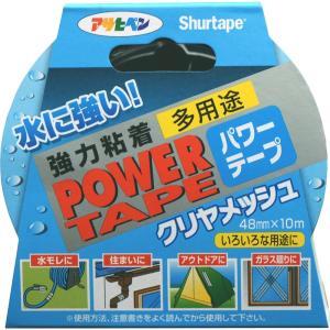 アサヒペン パワーテープ(補修用テープ)(屋内外) 【クリヤメッシュ】 48mm×10m