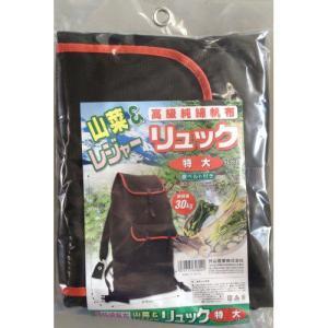グリーンライフ 純綿防水山菜リュック特大 TS-02の商品画像|ナビ