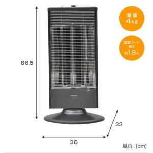 山善 YAMAZEN 遠赤外線シーズヒーター 電気ヒーター 首振り機能付 DB-J102(H)