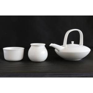 国産 白銚子 白水器 白水こぼし 3点セット ■ 陶器 ■ 神道 神棚 神具|yamako-showten