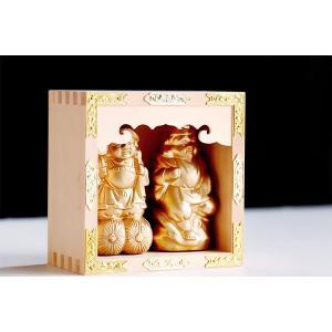 五合枡 入り ■ 黄金 恵比寿 大黒 ■ 国産 陶器 神棚 のお飾りに ■ 5合升 マス ます yamako-showten