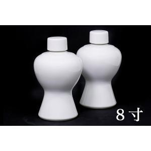 国産 神棚 神社■2本組 瓶子■一対 8寸 高さ24.5cm 【特大】 yamako-showten