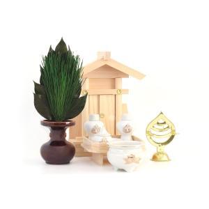 荒神宮■ 専用 神棚 ■台所 三方荒神■陶器  一式セット|yamako-showten
