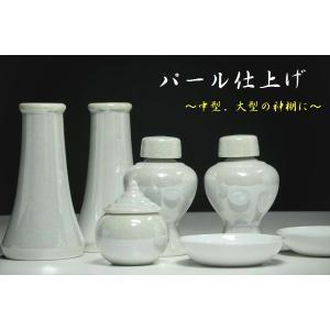 希少■神棚用 陶器■神具セット 7点 真珠仕上げ■パールの輝き■土器■中〜大型の神棚に|yamako-showten