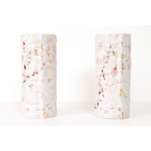 国産 投入 花瓶 寸胴  ■ さくら 巻型 ■  2本組 高さ24cm|yamako-showten
