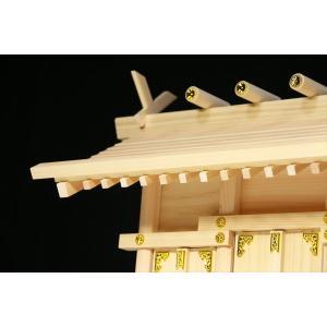 美しい、東濃桧■通し屋根 三社■神具 棚板付■神棚セット 一式|yamako-showten|05