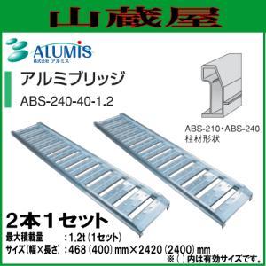 アルミス アルミブリッジ ABS-240-40-1.2(1セット2本)/ALUMIS|yamakura110