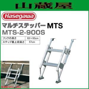 長谷川工業 MTSマルチステッパー MTS-2-900S フックの高さ(63〜93cm) 階段の踏ざんが幅広で安心昇降|yamakura110