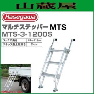長谷川工業 MTSマルチステッパー MTS-3-1200S フックの高さ(89〜119cm) 階段の踏ざんが幅広で安心昇降|yamakura110