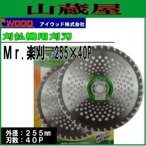 アイウッド 刈払機用チップソー Mr.楽刈 255X40P 10枚セット|yamakura110