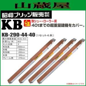 昭和ブリッジ アルミブリッジ KB-290-44-40(1セット4本) /建設機械等 鉄シュー・ローラ専用 最大積載荷重 40.0t/セット yamakura110