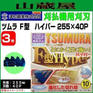 刈払機用チップソー ツムラ F型ハイパー 255X40P 3枚セット|yamakura110