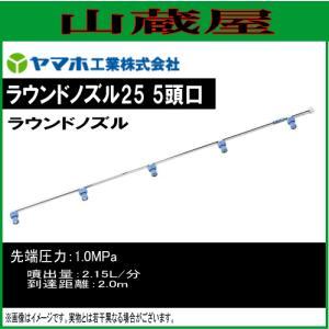 ヤマホ 動噴用噴口(ノズル) ラウンドノズル25 5頭口 ラウンドアップ専用|yamakura110