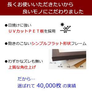 額縁 手ぬぐい額 軽量タイプ こげ茶木目 UVカット ペット板仕様 タオル フレーム|yamamoku-gifu|03