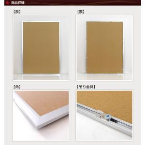 お得な10枚セット ポスターフレーム A1 (594x841mm) シルバー アルミ製 額縁|yamamoku-gifu|02
