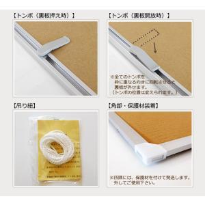 お得な10枚セット ポスターフレーム B1 (728x1030mm) シルバー アルミ製 額縁|yamamoku-gifu|03
