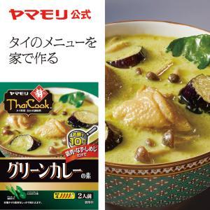 ヤマモリ タイクック グリーンカレーの素(1個)| タイ料理 タイカレー グリーンカレー レトルト ...