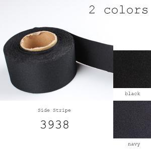 テープ 側章 10cm単位での対応 側章べり シルク50%&キュプラ50% タキシード用スラックス向け 生地幅38mm 黒・紺 2色展開 品番3938|yamamoto-excy