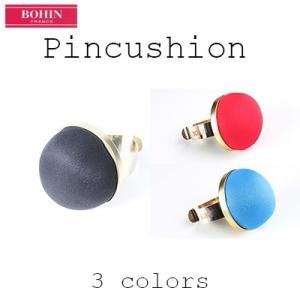 手芸 ピンクッション 縫製道具 BOHIN ボアン ピンクッション 針山 女性向け バンド部分がゴールドカラー クッションは3色展開  フランス製 yamamoto-excy