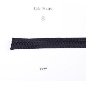 テープ 側章 10cm単位での対応 側章べり レーヨン100% タキシード用スラックス向け 人絹 生地幅18mm 紺 ミッドナイトブルー 品番8|yamamoto-excy