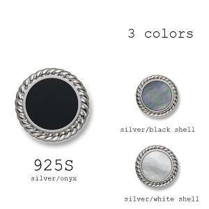 ボタン 1個から対応 純銀925を使用したボタン-15mm シルバー3色展開 925|yamamoto-excy
