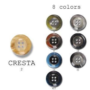 ボタン 15mm 1個から対応 スーツ・ジャケット向け マーブル調の模様 素材: ポリエステル 8色展開 クレスタ|yamamoto-excy