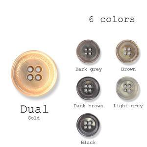 ボタン 1個から対応 スーツ・ジャケット向け Made in Italyならではの色使いと発色 イタリア製ポリエステルボタン-15mm 6色展開 デュアル|yamamoto-excy