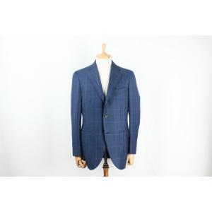 スーツ メンズ ビジネススーツ DORMEUIL ドーメル生地使用 ブルーチェックシングルスーツ 国内縫製 サイズ変更可能 受注生産 納期約4週間|yamamoto-excy