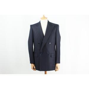 スーツ メンズ ビジネススーツ DORMEUIL ドーメル生地使用 ネイビー無地ダブルジャケット 国内縫製 サイズ変更可能 受注生産 納期約4週間|yamamoto-excy