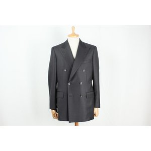 スーツ メンズ ビジネススーツ DORMEUIL ドーメル生地使用 ダークグレー無地ダブルスーツ 国内縫製 サイズ変更可能 受注生産 納期約4週間|yamamoto-excy