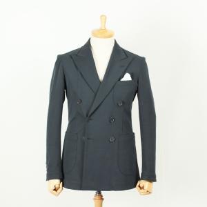 スーツ メンズ ジャージーダブルスーツ 毛芯無し裏地無し 脱コンストラクション 国内縫製グレーツイル サイズ変更可能 受注生産 納期約4週間|yamamoto-excy