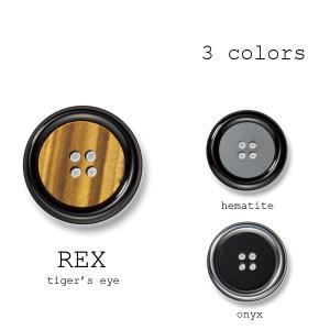 ボタン 1個から対応 貴石+ポリエステルボタン-15mm 3色展開 レックス|yamamoto-excy