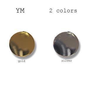 メタルボタン 1個から対応 スーツ・ジャケット向け 真鍮素材の高級品 ブレザーボタン-15mm 2色展開 YM平|yamamoto-excy