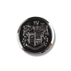 メタルボタン 1個から対応 スーツ・ジャケット向け 真鍮素材の高級品 ブレザーボタン シルバー 15mm EXCY YM8|yamamoto-excy