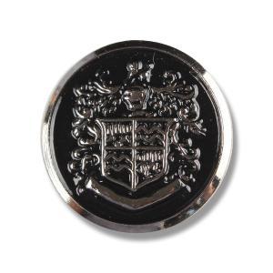 メタルボタン 1個から対応 スーツ・ジャケット向け 真鍮素材の高級品 ブレザーボタン シルバー 21mm EXCY YM8|yamamoto-excy