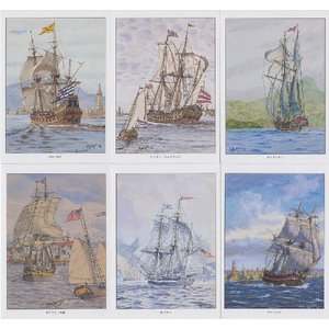 【絵葉書】[海洋画] 6枚セットA-(ロ) 「山形欣哉」  |yamamotobizyutukan1