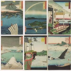 【絵葉書】 6枚セット 「広重・二代広重」|yamamotobizyutukan1